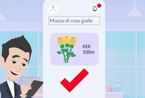 Video animato per App per lo shopping online