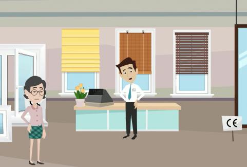 Video animato per servizio marcatura CE settore serramenti