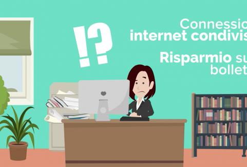 Video cartoon per promozione servizio connessione internet condivisa
