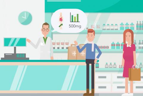 Video animato cartoon 2D per servizio farmacia