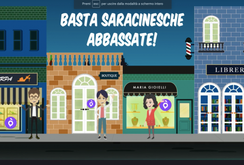 Video cartoon per buoni digitali per lo shopping online