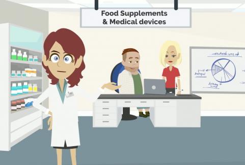 Presentazione animata per azienda di integratori alimentari